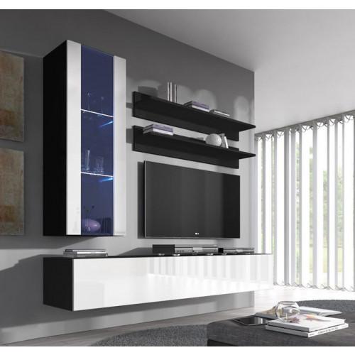 conjunto meubles nerea negro blanco h2