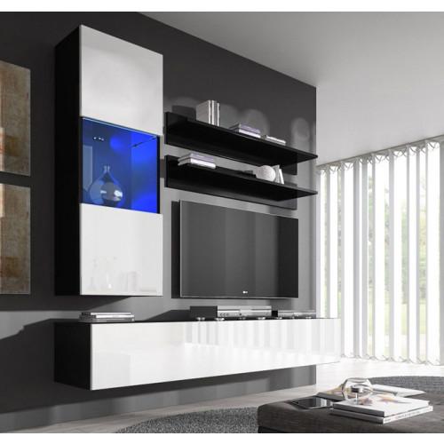 conjunto meubles nerea negro blanco h3