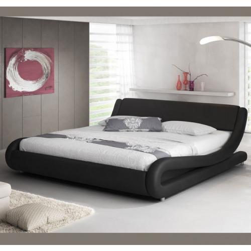Bed Piccione zwart - Bedden zonder matras - Slaapkamer