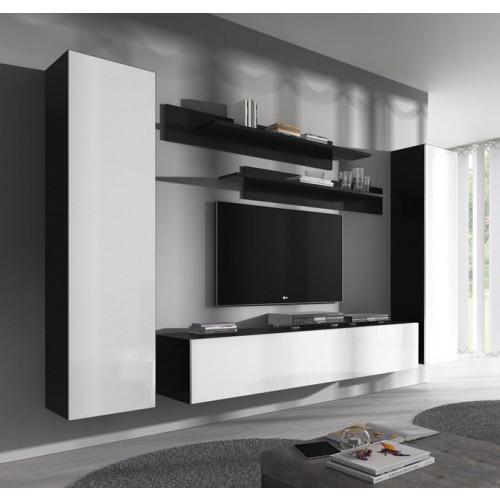conjunto meubles nerea negro blanco b1