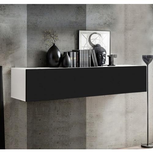 mueble tv kaira h150 blanco negro
