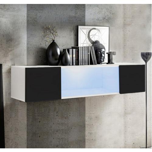 mueble tv kaira h150cc blanco negro