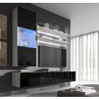 conjunto meubles nerea blanco negro h3