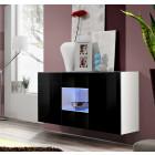 hangend dressoir viviana zwart wit