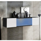 mueble tv kaira h150cc negro blanco