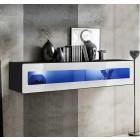 mueble tv kaira h150cr negro blanco